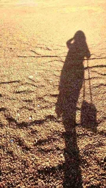 woman shadow